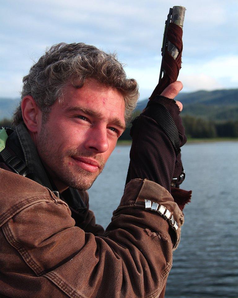 Alaskan Bush People star Matt Brown in his hometown in Alaska