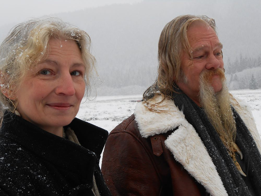 Ami Brown and Billy Brown in the Alaskan wilderness