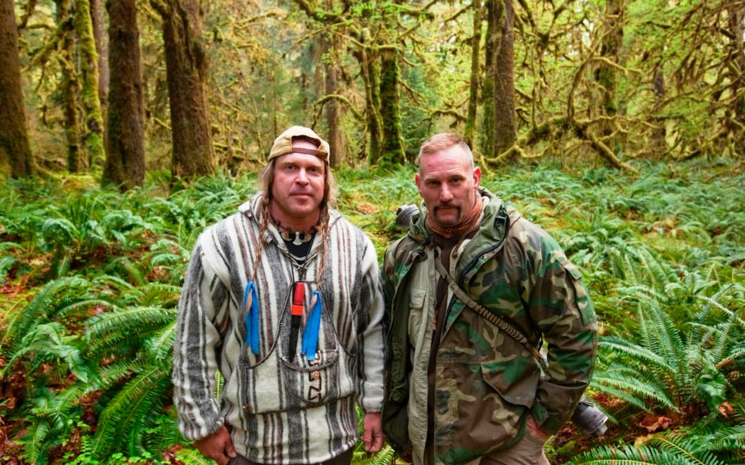 Dave Canterbury stands alongside Cody Lundin in the wilderness in Dual Survival.