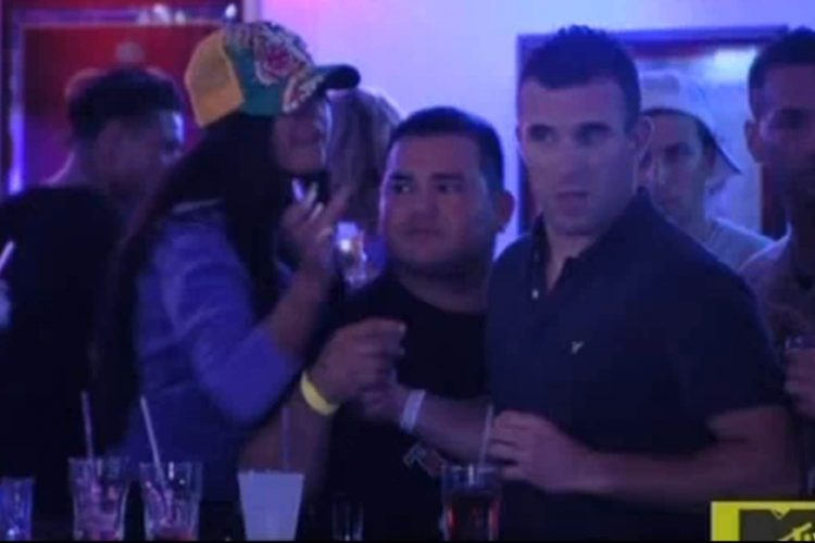 A heated moment between Brad Ferro and Jersey Shore's Snooki at Beachcomber Bar & Grill in Seaside Heights, New Jersey.