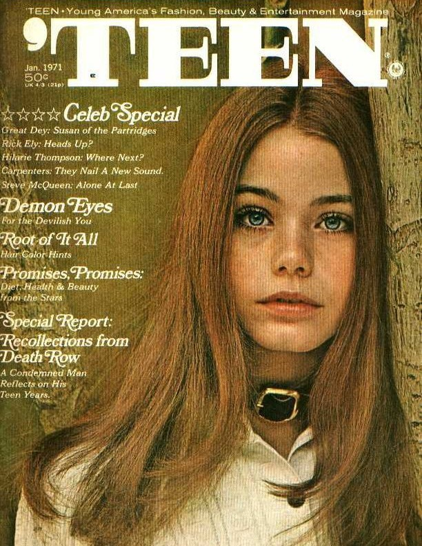 Susan Dey gracing the cover of the Teen magazine.