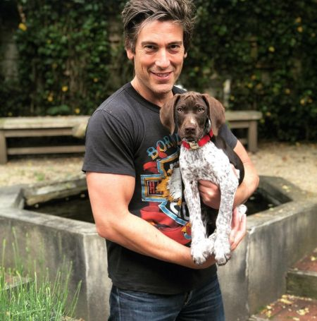 David Muir was with his doggy