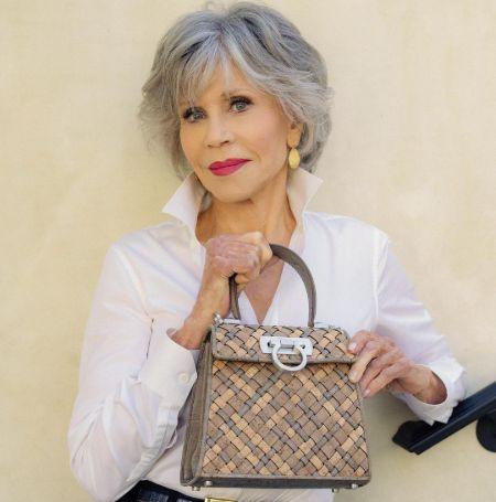 Jane Fonda promoting Ferragamo brand on her IG