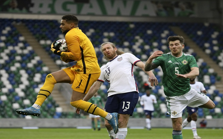 an international friendly soccer match between Northern Ireland and United States