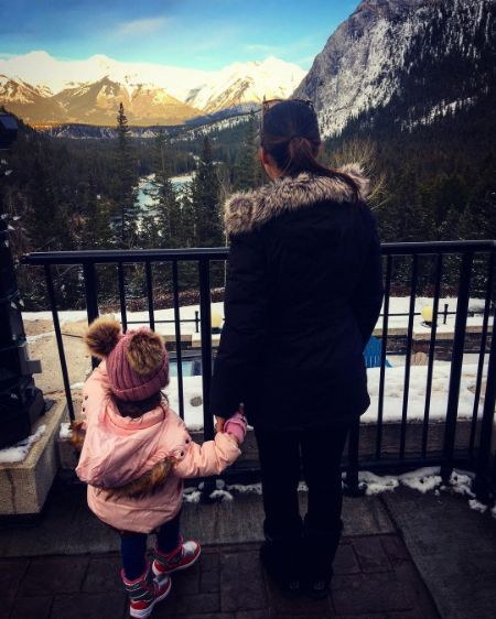 David Nehdar took the picture of his wife and daughter