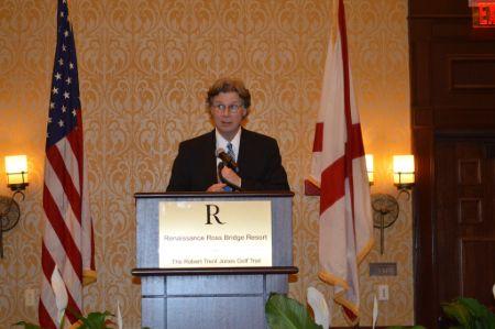 Byron York giving a speech