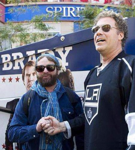 Hollywood actor Zach Galifianakis with Will Ferrell
