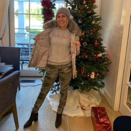Alisyn Camerota in her home during Christmas