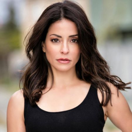 Emmanuelle Vaugier on a photo shoot with Max Brandin Photography