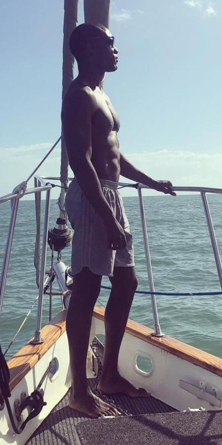 Eugene Scott on a yacht