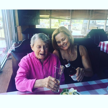 Robin Stapler celebrating her mother 90th birthday