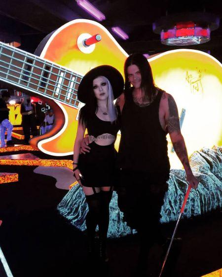 Travis Bacon and his Girlfriend Angelina Sambrotto at Los Vegas