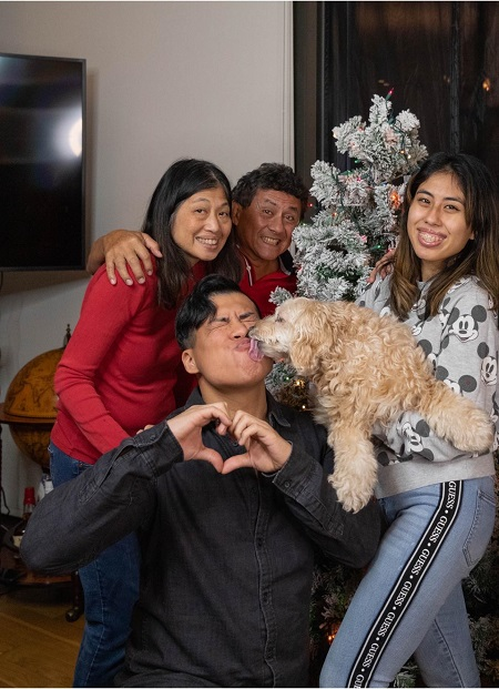 Spencer Polanco Knight The American Youtuber with his family