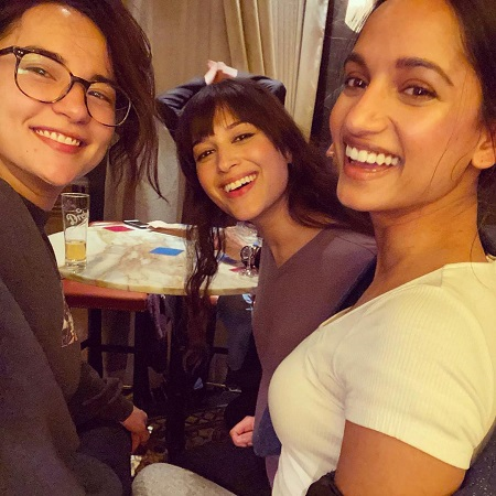 Sujaya Dasgupta The shadow and bone actress with her friends