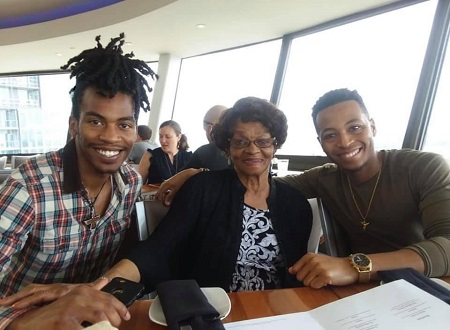 Kevin Ross with his sibling brother and his grandma