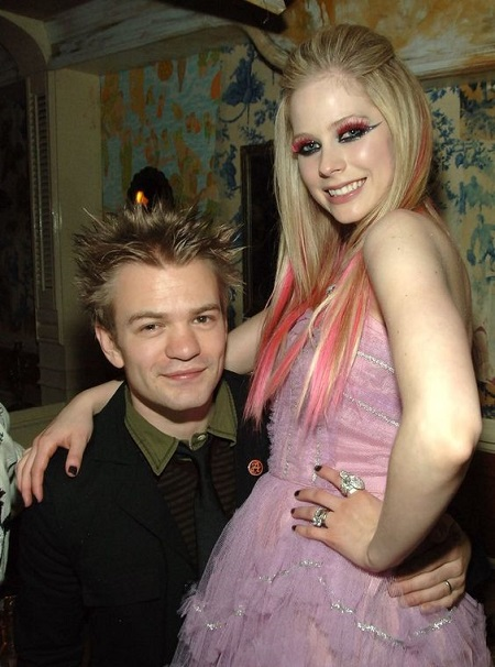 Deryck Whibley with his ex-wife Avril Lavigne