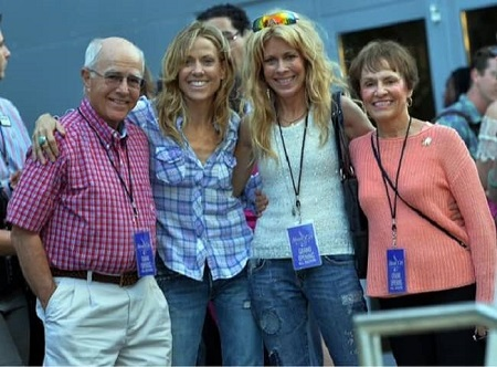 Sheryl Crow with her parents and sister Kathy