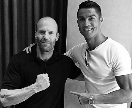 Jason Statham with Cristiano Ronaldo