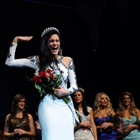 Audra won the title of Miss World America in 2014