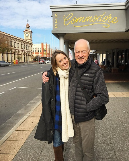Same Jane Lane with her father, Tim Lane in Sydney, and not her partner.