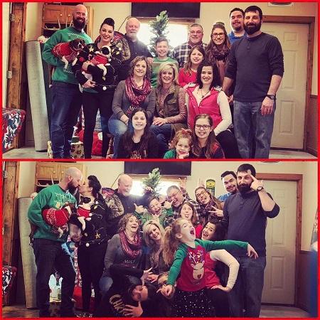 Lisa Marie Joyce celebrating Christmas with her family