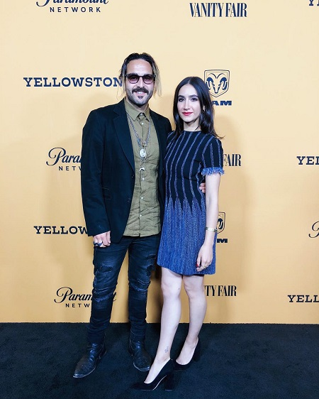 Nikohl Boosheri attending the Yellowstone team for a premiere & party with her boyfriend Wild the Coyote