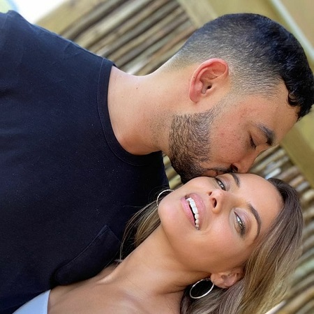 Mishqah Parthiephal with her future husband Tarlan Baker