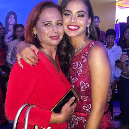 Mishqah Parthiephal with her mother