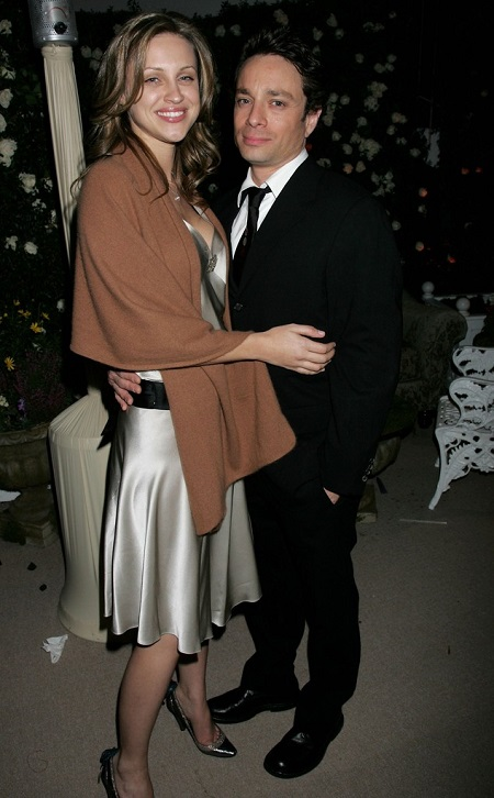 The American actress Sunshine with her former husband Criss Kittan