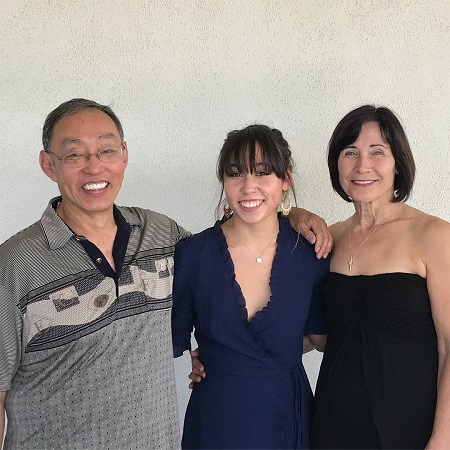 The celebrity father Richard  with his wife Diana Ohashi and daughter Katelyn