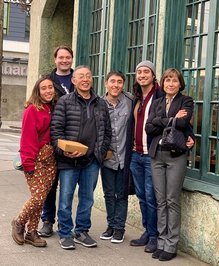 Richard Ohashi with his wife and their children