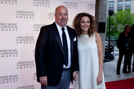 Andrew Zimmern and his wife Rishia Anne Felien attending James Bread Foundation Awards