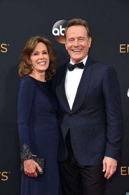 Bryan Cranston attending an Emmy Awards with his wife Robin Dearden