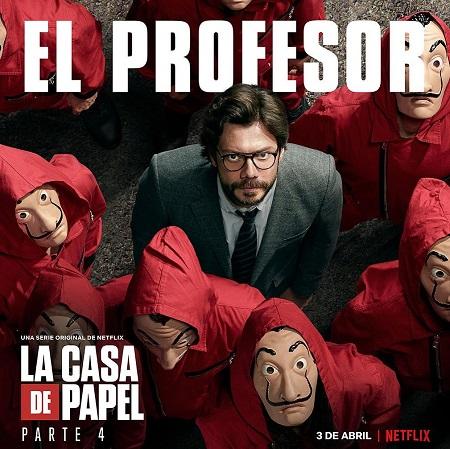 Alvaro Morte appears on La Casa de Papel part 4