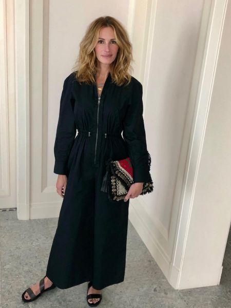 Julia Roberts in a black jumpsuit