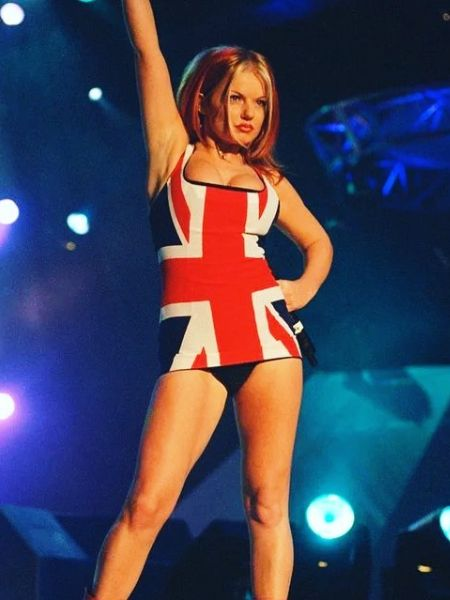Geri Halliwell in her iconic outfit