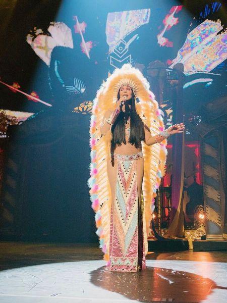 Cher performing in Las Vegas