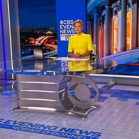 Jamie Yucces hosting her show CBS Evening News