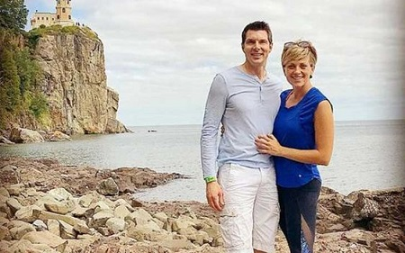 Jamie Yuccs with her ex-husband John Sheehan