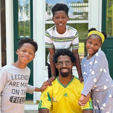Uchen Ojeh with his three children