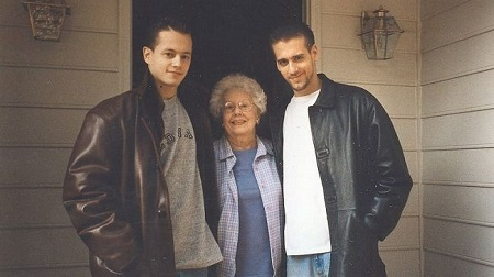 The American Television celebrity Max with his mother and brother