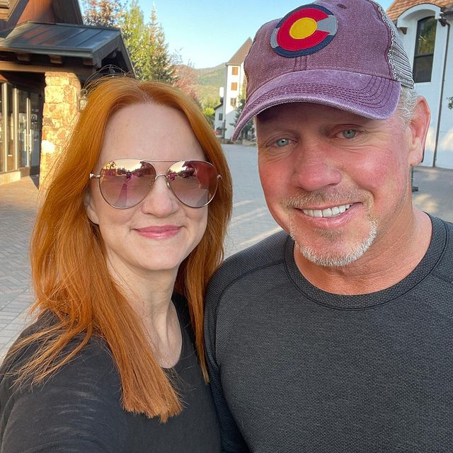 Ree Drummond was taking a picture with her husband.