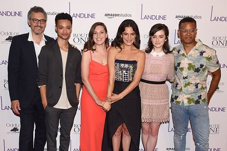 Marquis Rodriguez om premier of landline movie with other cast members