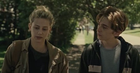 Austin Abrams with Lili Reinhart in the Amazon Prime Chemical Hearts