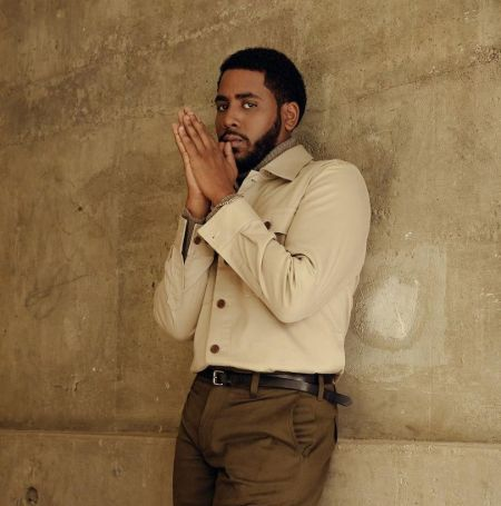 Jharrel Jerome was taking picture on a photoshoot