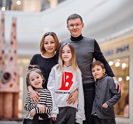 The Voice Kids Ukraine Daneliya Tuleshova visiting Mega Center with her family