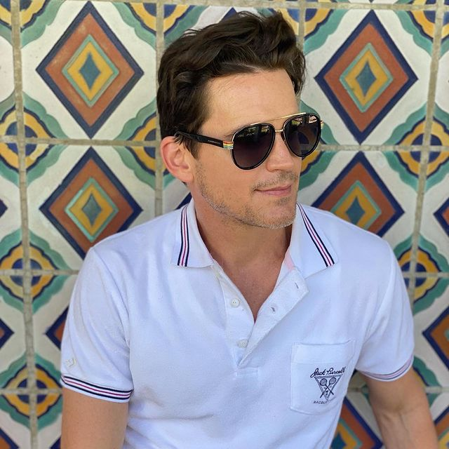 Bomer was taking a picture.