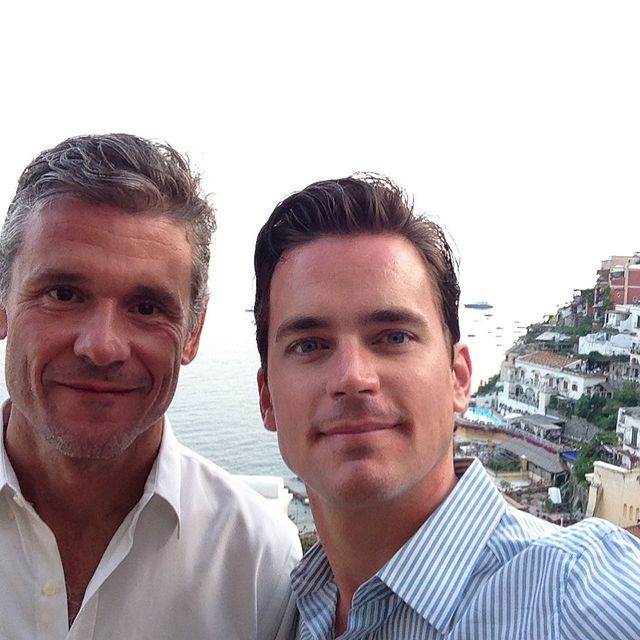 Simon Halls and his Spouse were taking a selfie.