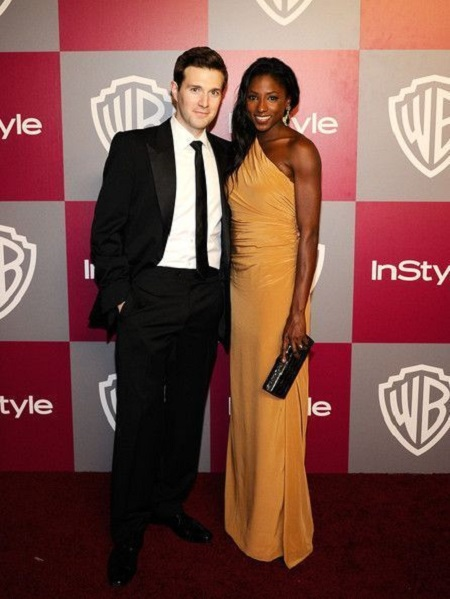 The American actress Rutina attending an event with her ex-husband Jacob Fishel