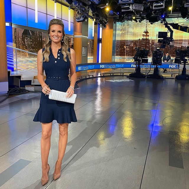 The picture was taken while Jillian was reporting news on Fox Channel.